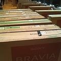 写真: 『真・三國無双6』プレミアム体験会 絶賛準備中です。大量のBRAVIAが!