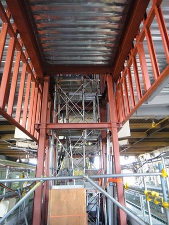 犬山駅工事中のエレベータ
