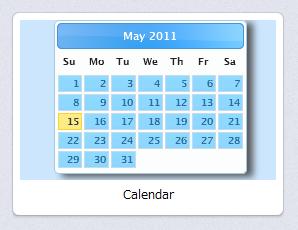 写真: Operaスピードダイヤル・エクステンション:Calendar