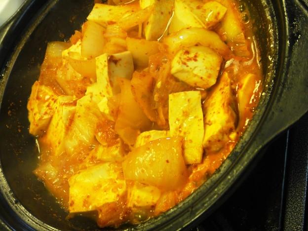 韓国包菜鍋 豆腐