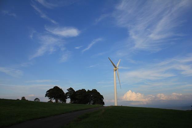 高原の風車