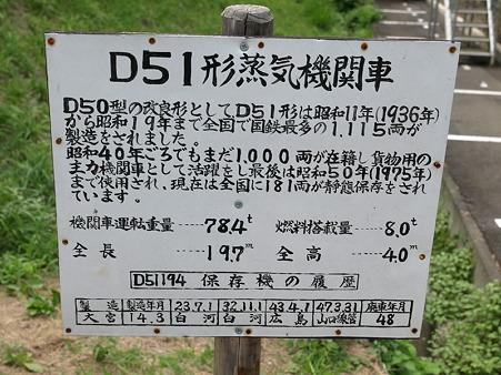 D51-194の看板(津和野駅)