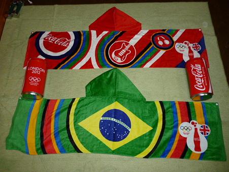 20120613 コカコーラのオリンピックタオル