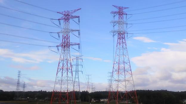 ふたつの送電塔