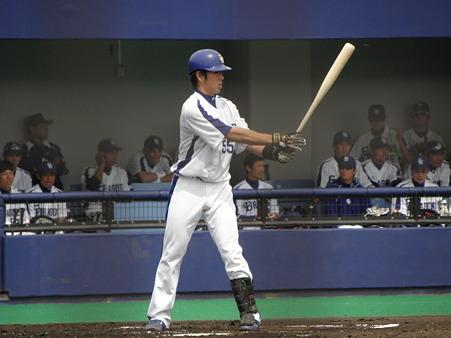 009 2アウト2塁で、4番の福田