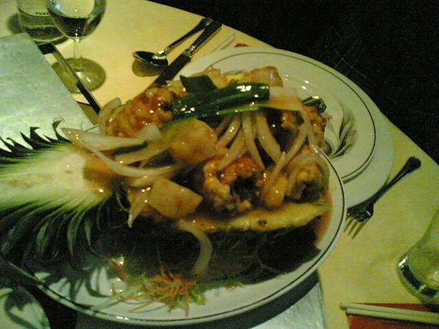 パイナップルと海鮮