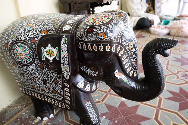 象の置物 @インド マイソール