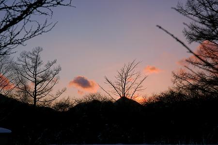三本松茶屋から見る夕暮れ