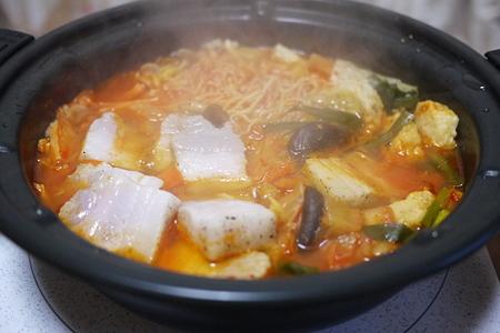 塩豚 in キムチ鍋