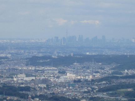 高尾山からスカイツリーも見られます^^