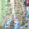 写真: 鞆の浦で配布されている散策マップ/表面