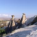 写真: きのこ岩の造形美