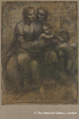 レオナルド・ダ・ヴィンチ「聖母子と聖アンナと洗礼者ヨハネ」