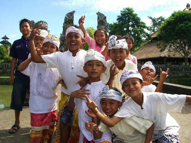 インドネシア バリ島 子供たちとのひととき