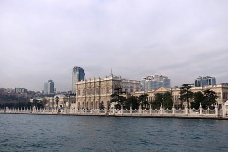 2011.01.28 トルコ イスタンブル ボスフォラス海峡クルーズ-ドルマバフチェ宮殿