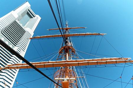 2011.04.05 みなとみらい 帆船日本丸 フォアマスト