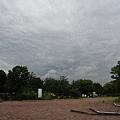 写真: ザラザラした曇天