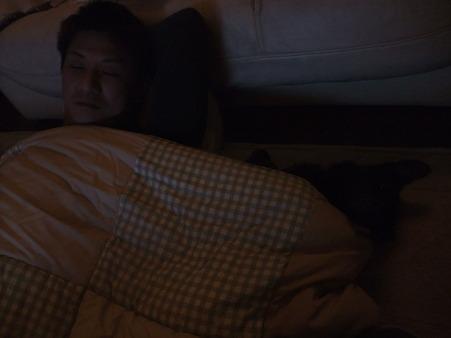 寝る時間の風景
