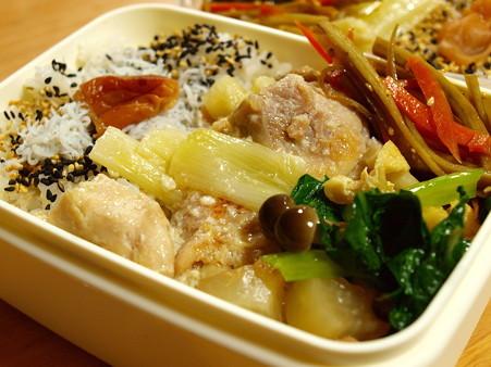 鶏もも肉と長葱のねぎま風塩麹焼き弁当