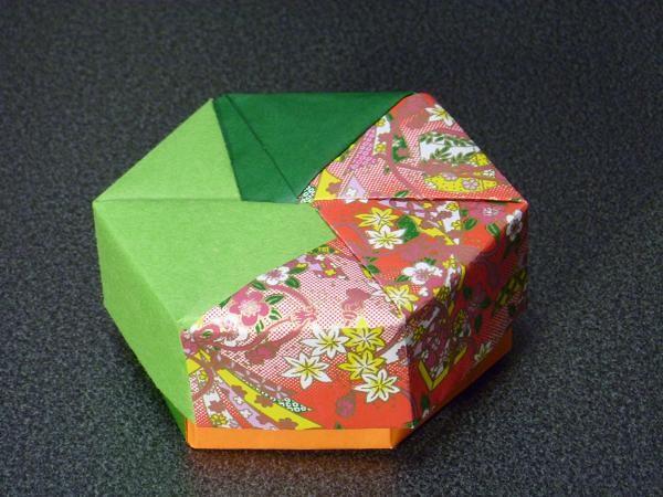 ハート 折り紙 折り紙箱六角形作り方 : studental.net