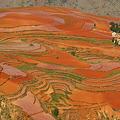 写真: 紅い土地と集落