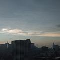 Photos: 雨雲と白雲と青空と赤焼けと。