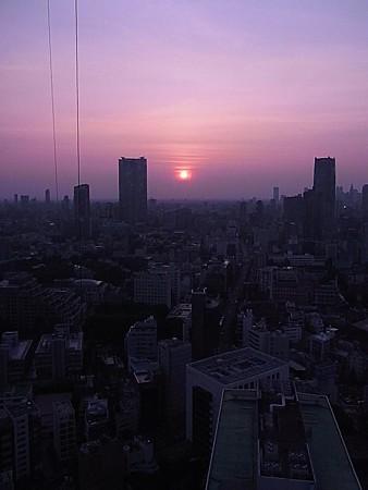 東京タワー夕焼け