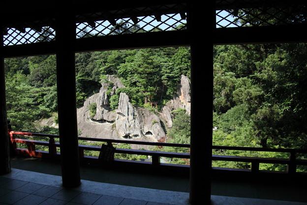那谷寺 鎮守堂・楓月橋から 奇岩遊仙境を見る