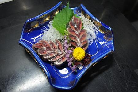 秋刀魚の木の葉造り