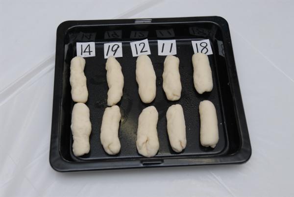 焼く前の普通の形のパンの様子